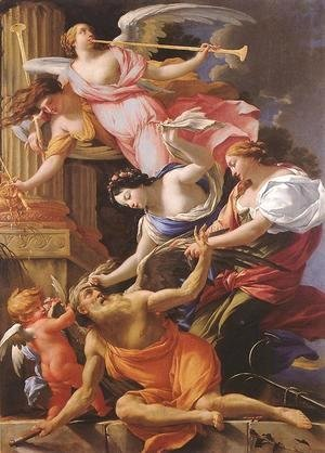 Saturn, Conquered by Amor, Venus and Hope 1645-46