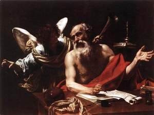 Simon Vouet - St Jerome and the Angel 1620s