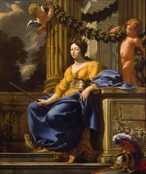 Simon Vouet - Allegorical Portrait of Anna of Austria as Minerva