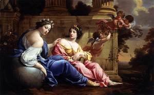 Simon Vouet - The Muses of Urania and Calliope